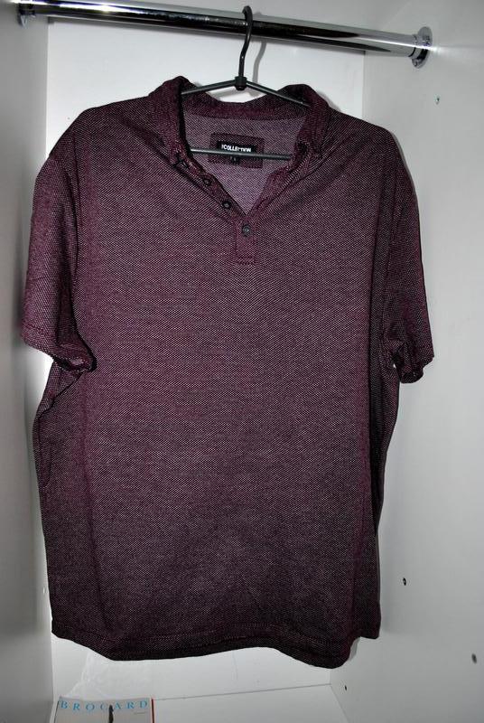Мужская футболка бренда debenhams l фиолетово-бордового цвета