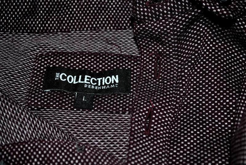 Мужская футболка бренда debenhams l фиолетово-бордового цвета - Фото 3