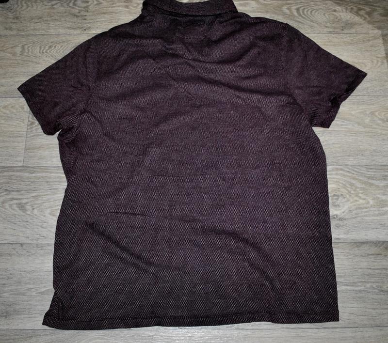 Мужская футболка бренда debenhams l фиолетово-бордового цвета - Фото 4