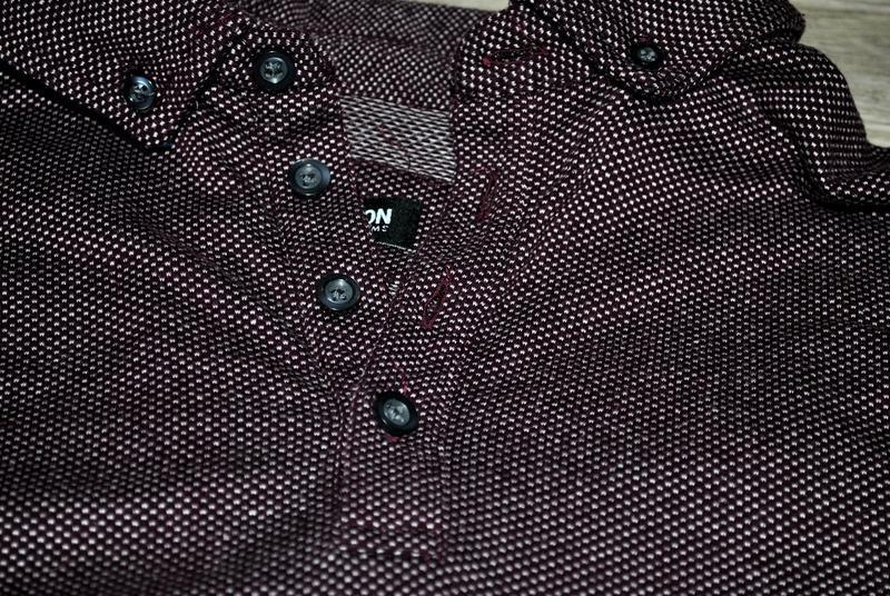 Мужская футболка бренда debenhams l фиолетово-бордового цвета - Фото 5