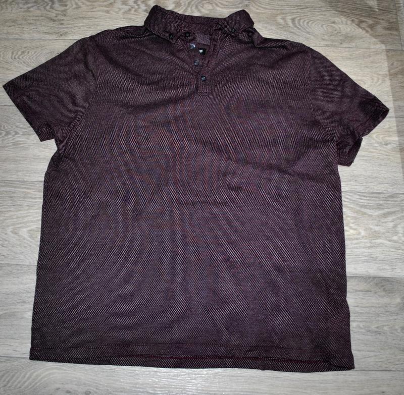 Мужская футболка бренда debenhams l фиолетово-бордового цвета - Фото 6