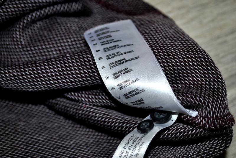 Мужская футболка бренда debenhams l фиолетово-бордового цвета - Фото 8