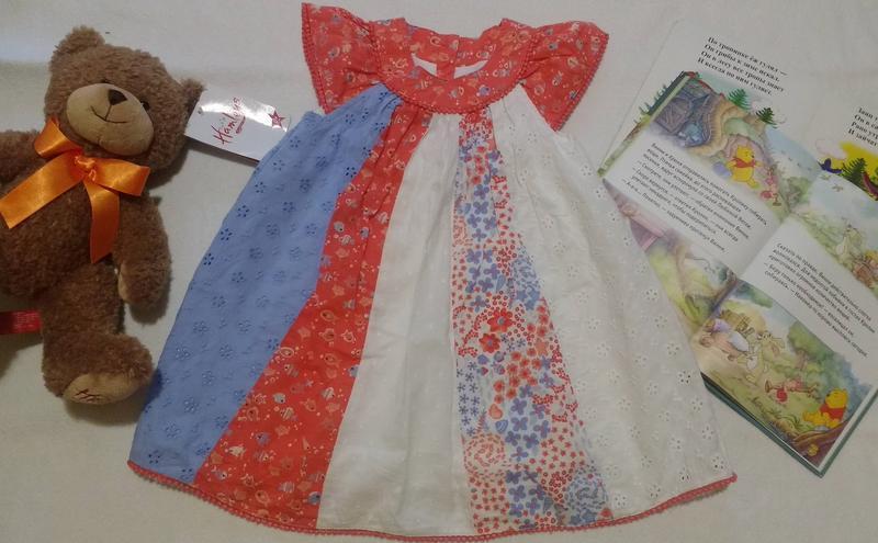 "Платье-трапеция с рыбками от ""mothercare"", 18-24 месяца"