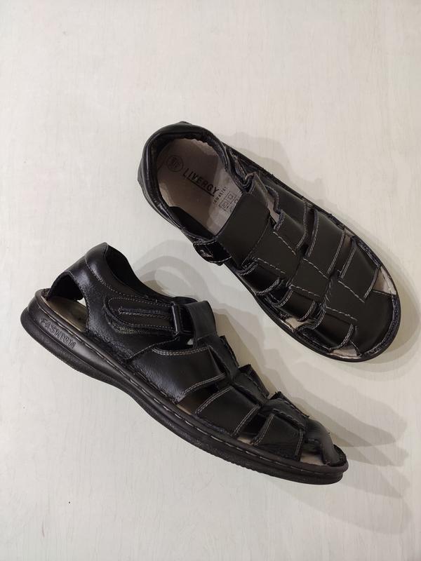 Livergy мужские кожаные сандалии 46 размер