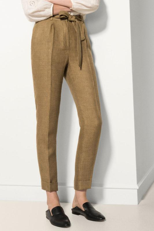 Летние льняные штаны p.36 и 38 massimo dutti - Фото 2