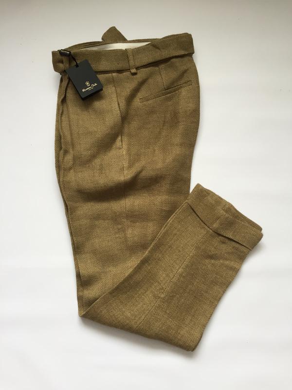 Льняные штаны p.36 и 38 massimo dutti - Фото 5