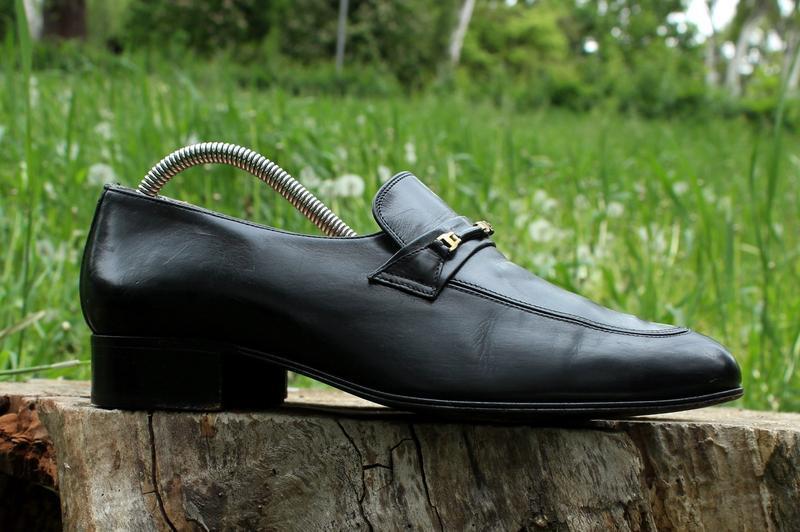 Кожаные мужские туфли лоферы bally италия, размер 41 - 42