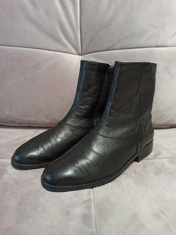 Зимние кожаные  ботинки bally оригинал, сделаны в швейцарии