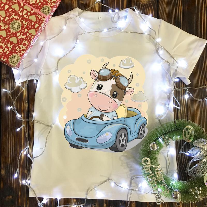 Детские футболки с принтом - новый год