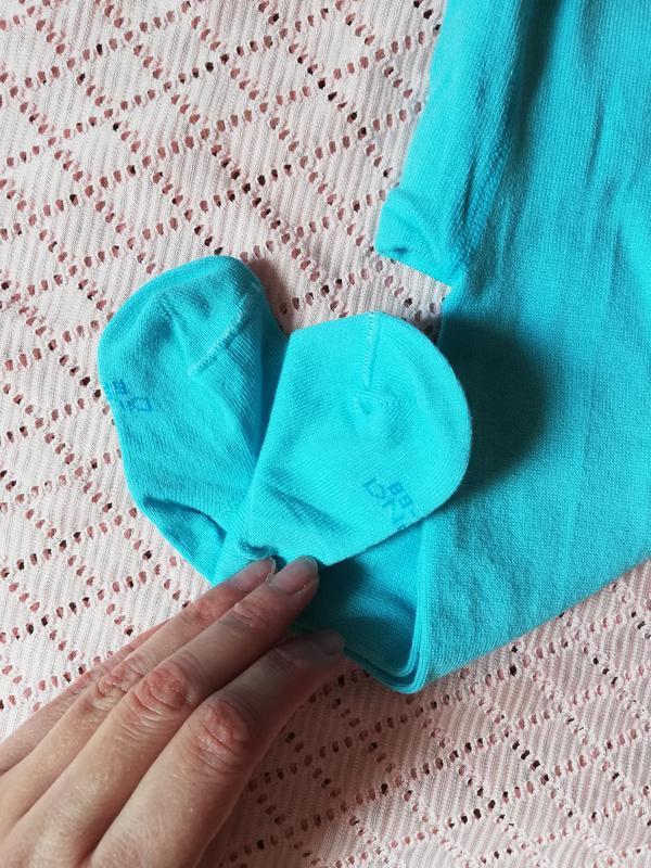 Колготки для новорождённых бирюзового цвета, 8-10 размер, 0-6 ... - Фото 6