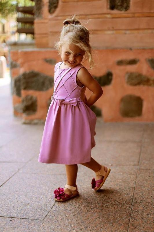 Платье розовый джинс lilu для девочки, 122р.