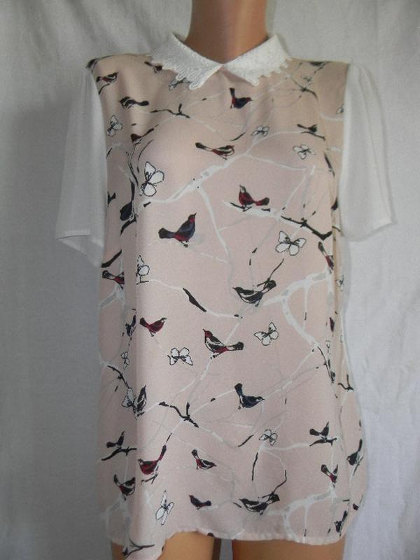 Красивая блуза с принтом птицы