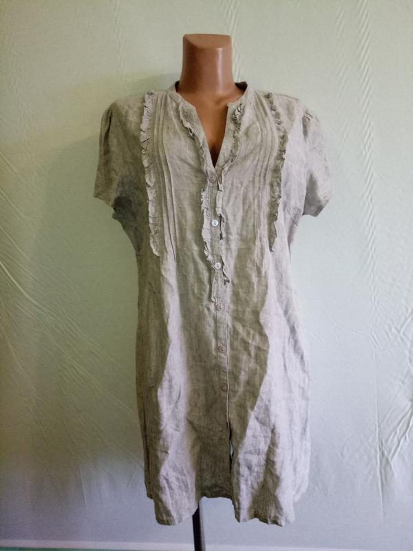 Блуза рубашка туника льняная  tu,  р. 50.