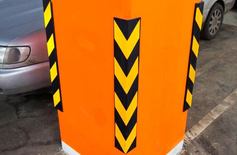 Угловая защита стен и колонн (демпфер угловой парковочный)