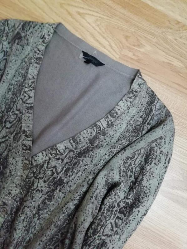 Женская плотная вязаная кофта - кардиган -змеиный принт - разм... - Фото 3