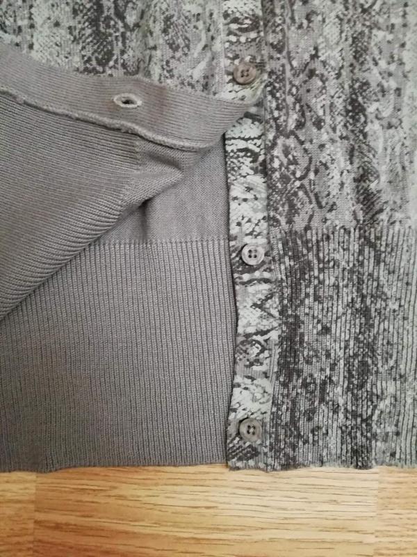 Женская плотная вязаная кофта - кардиган -змеиный принт - разм... - Фото 5
