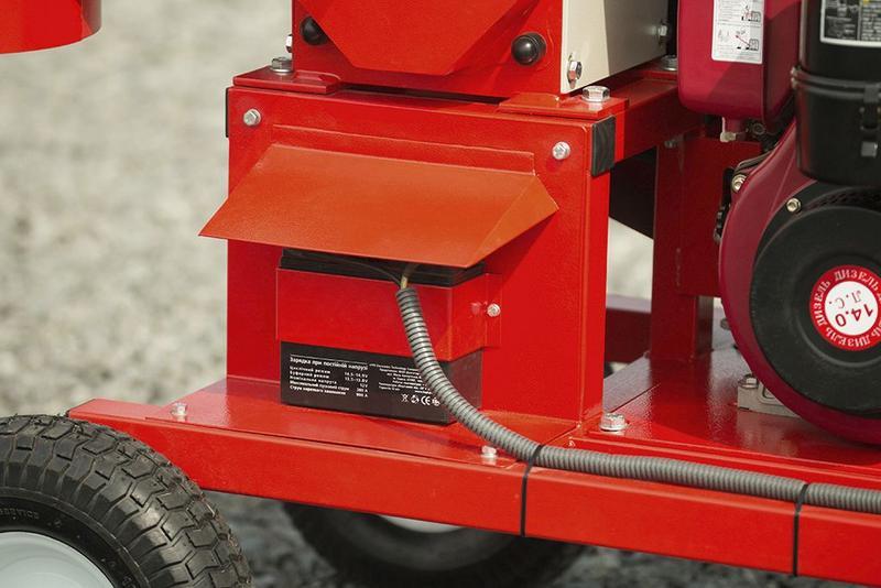 Измельчитель веток, дробилка подрібнювач гілок АРПАЛ АМ-120Д MAX - Фото 5