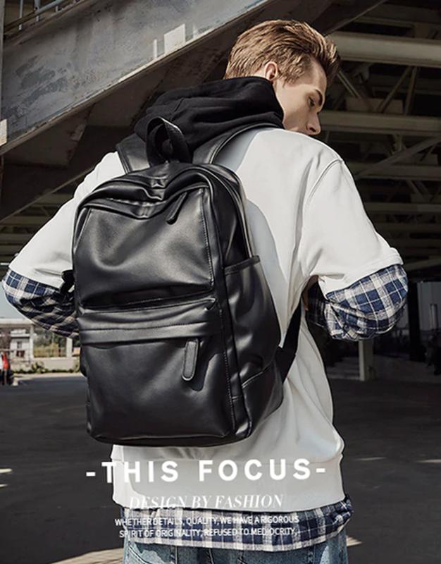 Крутой рюкзак с usb j3. кожаная сумка. мужской рюкзак кожа. по... - Фото 3