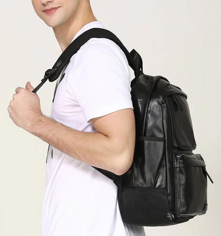 Крутой рюкзак с usb j3. кожаная сумка. мужской рюкзак кожа. по... - Фото 5