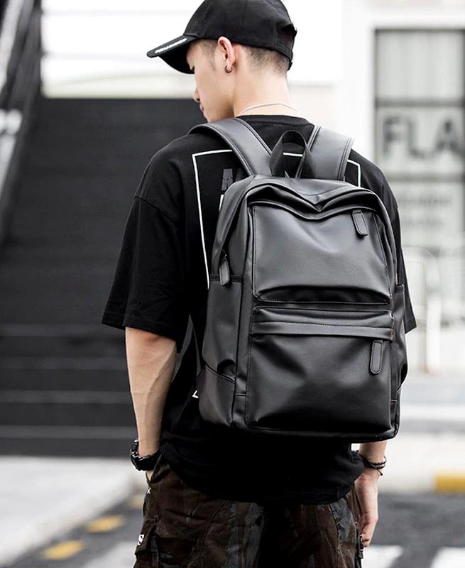 Крутой рюкзак с usb j3. кожаная сумка. мужской рюкзак кожа. по... - Фото 6