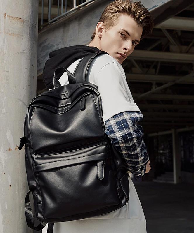 Крутой рюкзак с usb j3. кожаная сумка. мужской рюкзак кожа. по... - Фото 8