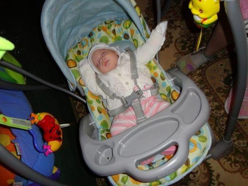 Кроватка - кресло-качель, укачивающий центр для новорожденного - Фото 3