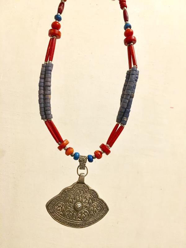 Ожерелье индия метал и дерево - Фото 3