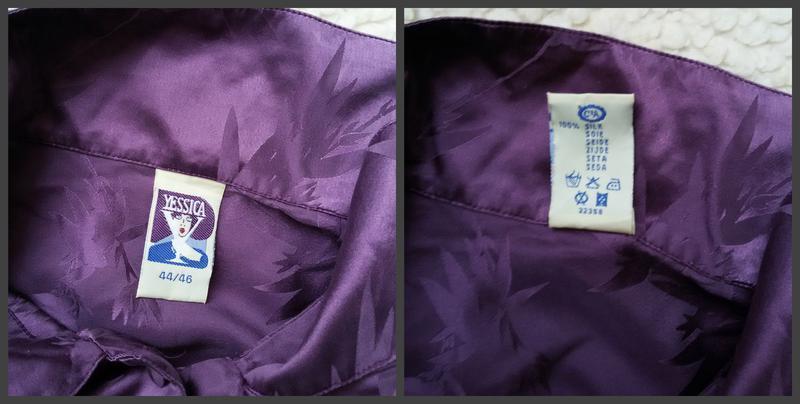 Длинная шелковая рубашка 100% шелк размер 44/46 - Фото 4