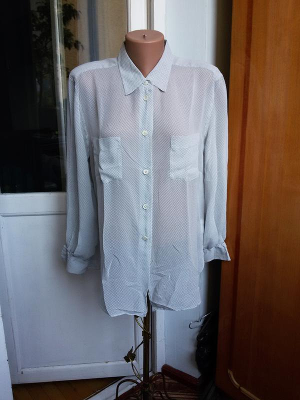 Шелковая рубашка strenesse германия 100% натуральный шелк