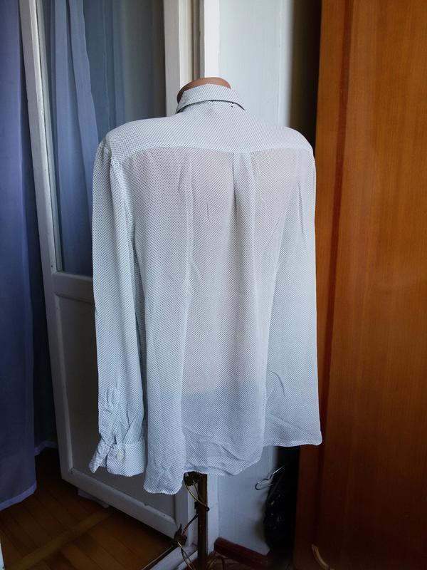 Шелковая рубашка strenesse германия 100% натуральный шелк - Фото 4