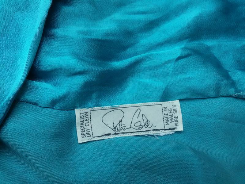 Роскошный шелковый кардиган / накидка уэльс 100% натуральный шелк - Фото 5