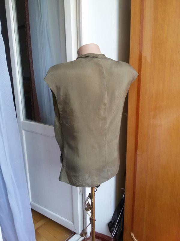 Шелковая блуза zara 100% шелк - Фото 2