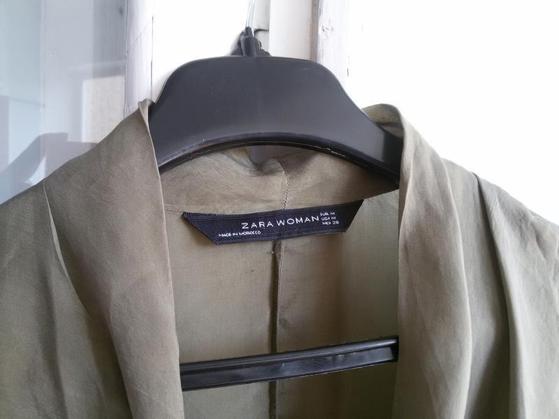 Шелковая блуза zara 100% шелк - Фото 3