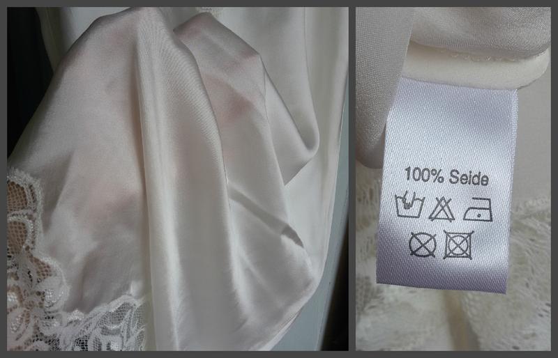 Королевская шелковая комбинация / ночнушка с кружевом / 100% шелк - Фото 3