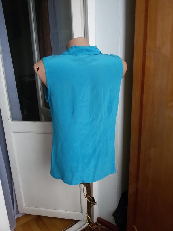 Шелковая блуза без рукавов 100% шелк - Фото 2