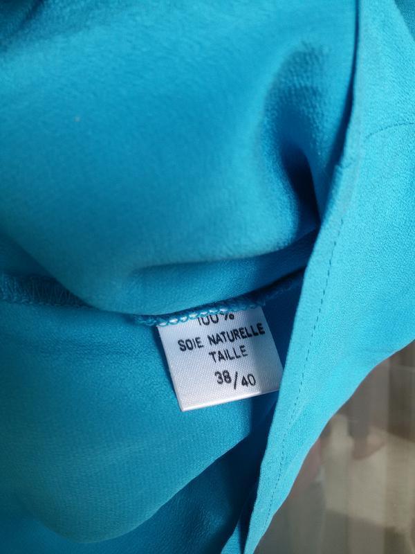 Шелковая блуза без рукавов 100% шелк - Фото 3