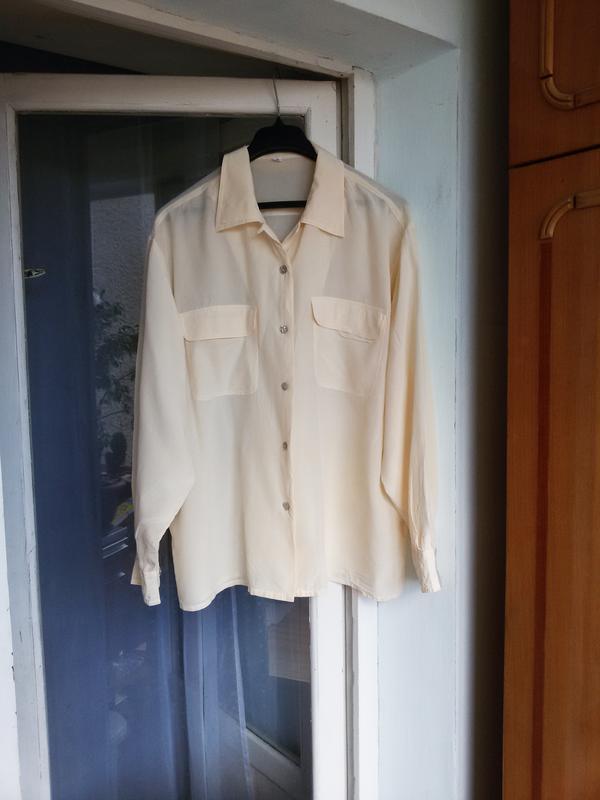 Шелковая рубашка barisal 100% шелк - Фото 2
