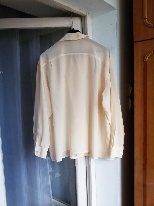 Шелковая рубашка barisal 100% шелк - Фото 4