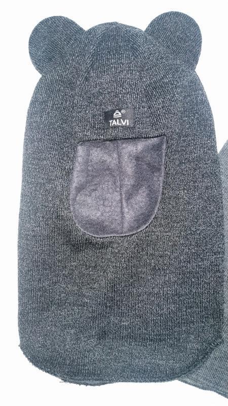 Шлем серый меланж
