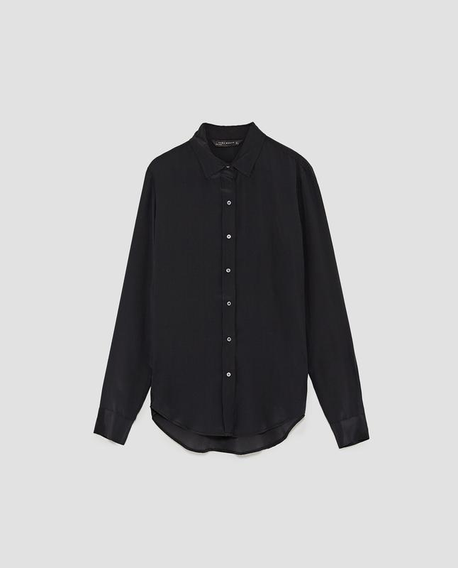 Шелковая рубашка  zara - Фото 2