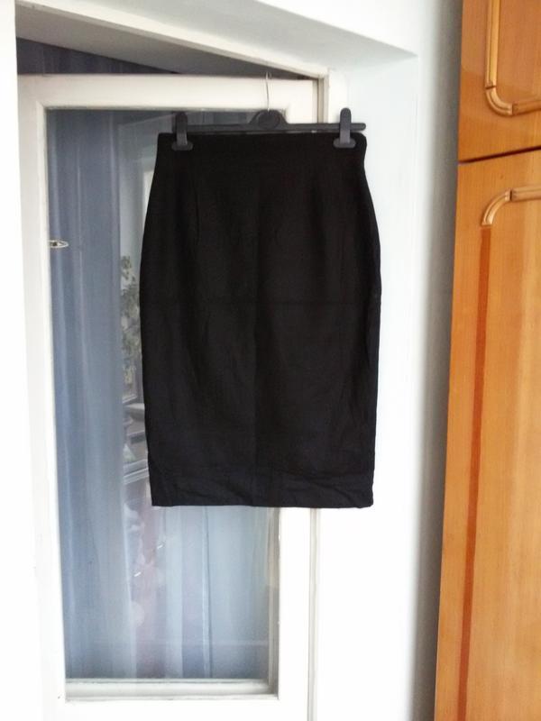 Классическая черная юбка карандаш christian dior / шерсть, каш...