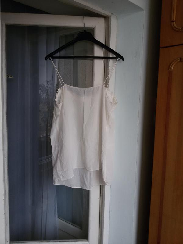 Шелковая майка massimo dutti 100% шелк - Фото 5