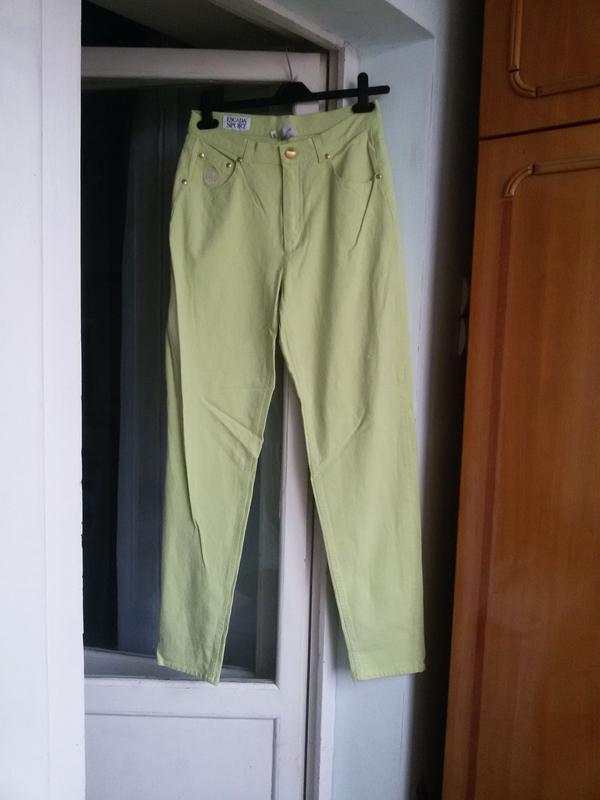 Джинсовые брюки escada sport высокая посадка