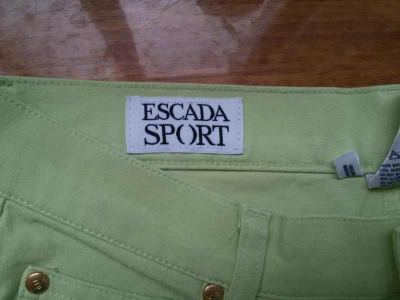 Джинсовые брюки escada sport высокая посадка - Фото 3