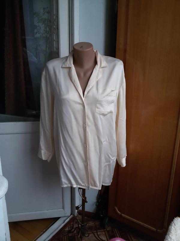 Шелковая рубашка для дома 100% натуральный шелк galaxy швейцария