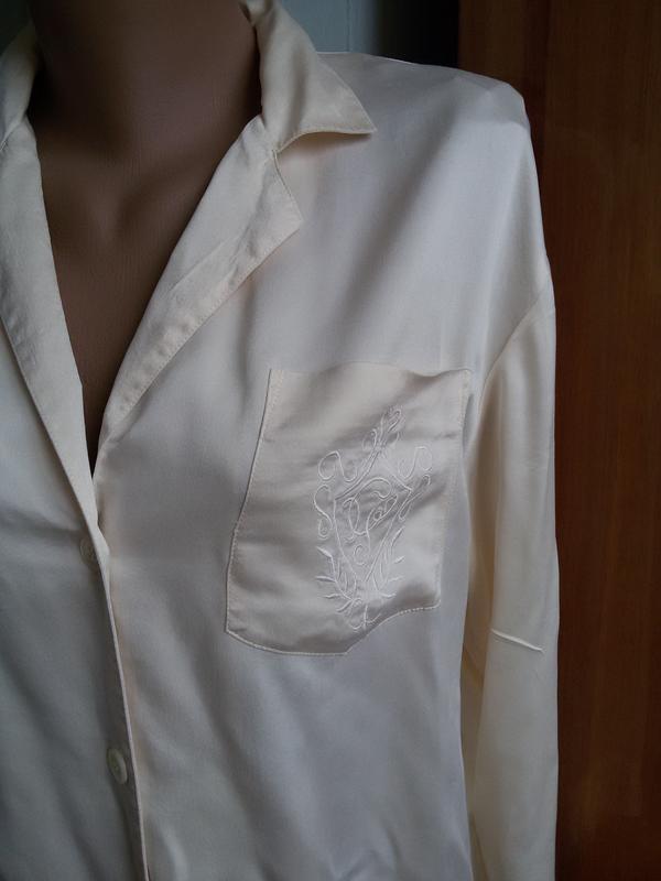 Шелковая рубашка для дома 100% натуральный шелк galaxy швейцария - Фото 2