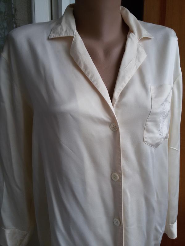 Шелковая рубашка для дома 100% натуральный шелк galaxy швейцария - Фото 3