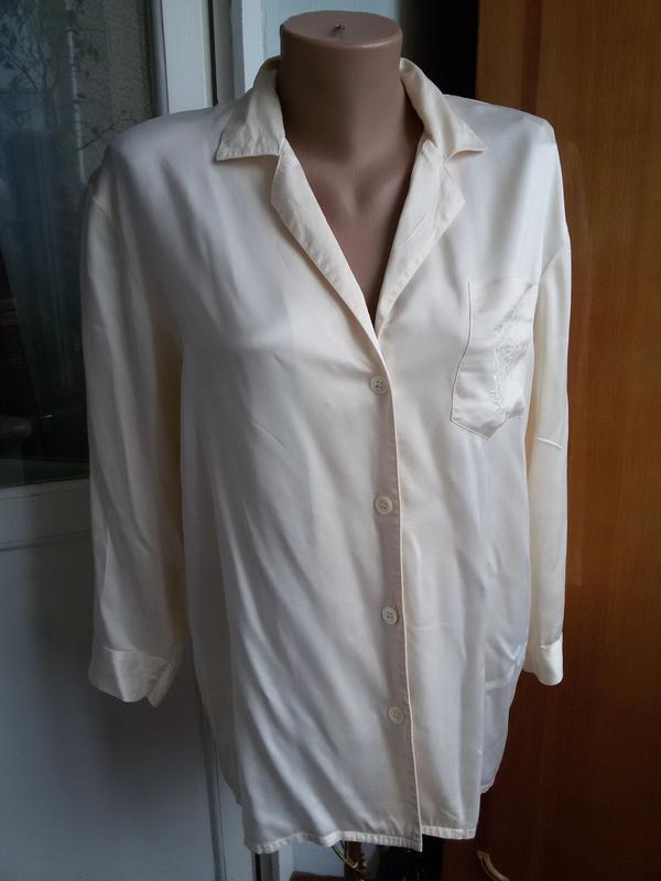 Шелковая рубашка для дома 100% натуральный шелк galaxy швейцария - Фото 4