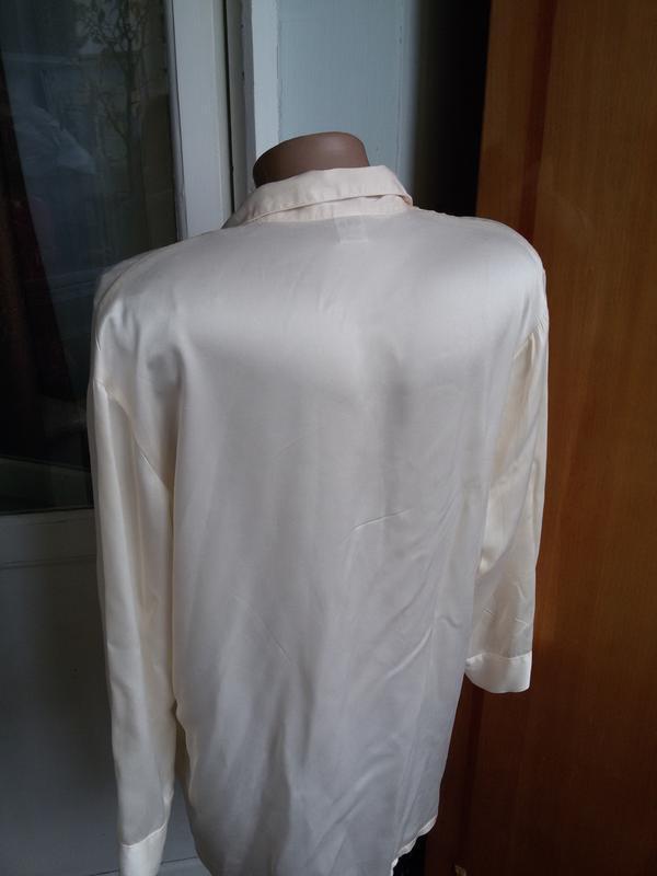 Шелковая рубашка для дома 100% натуральный шелк galaxy швейцария - Фото 5