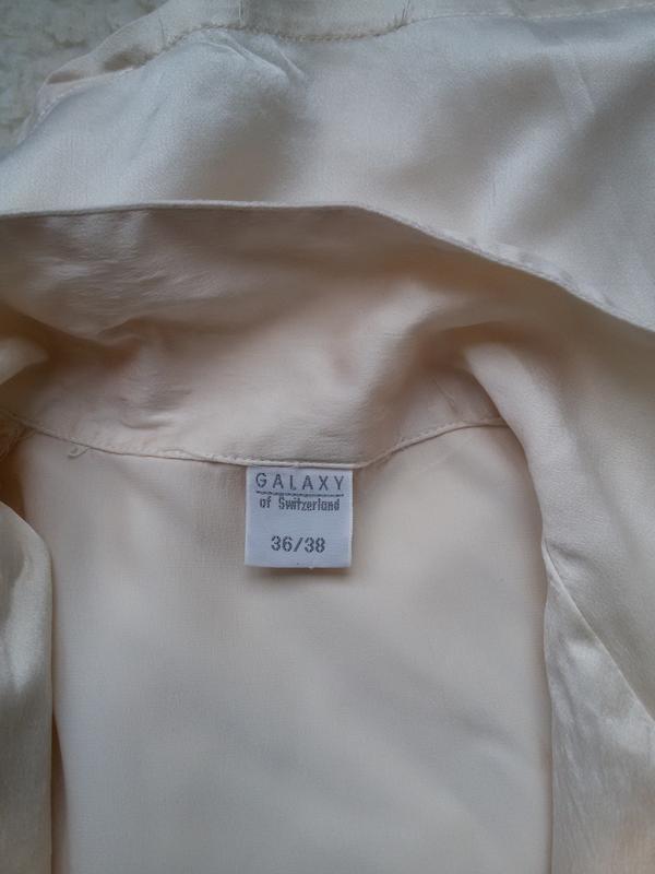 Шелковая рубашка для дома 100% натуральный шелк galaxy швейцария - Фото 8